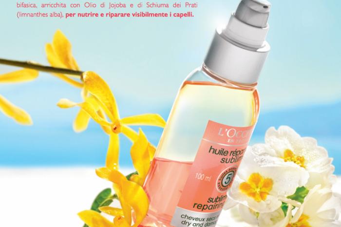Proteggere i capelli sotto al sole: il nuovo olio sublime L'Occitane