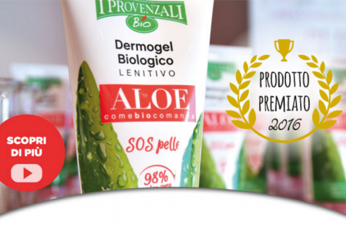"Il Dermogel Biologico Aloe de ""I Provenzali"" eletto ""New entry dell'anno""!"