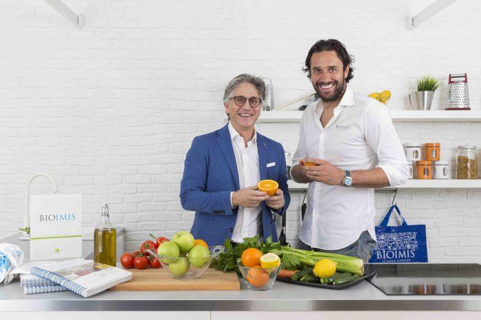 Luca Toni presenta il menù delle feste Bioimis per mantenersi in forma