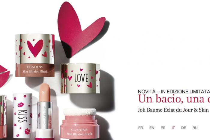 Per San Valentino, un bacio e una carezza Clarins!