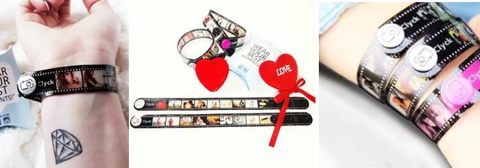 Idee regalo San Valentino: Clyck, il braccialetto con le foto!