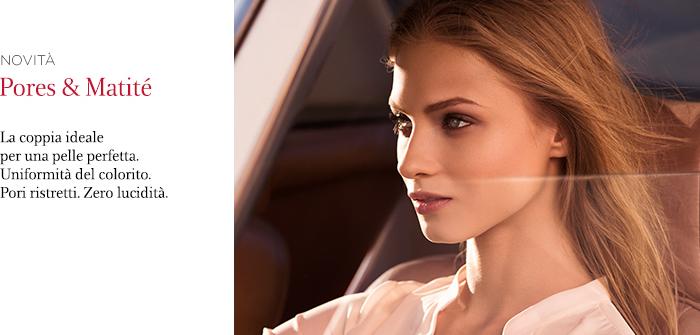 Novità Clarins: fondotinta e poudre compatta Pores & Matité
